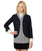 Lambswool Three-Button Twill Jacket