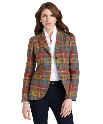 Shetland Wool Three-Button Jacket