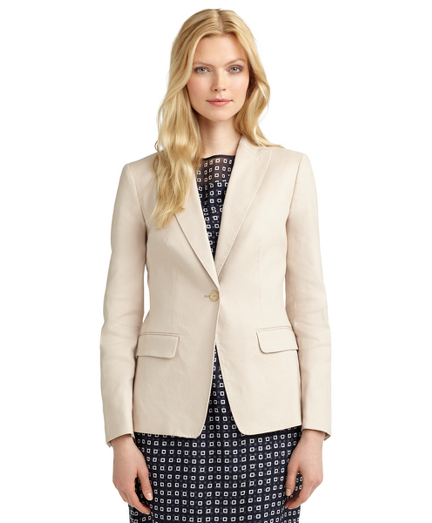 Linen One-Button Stellita Fit Jacket