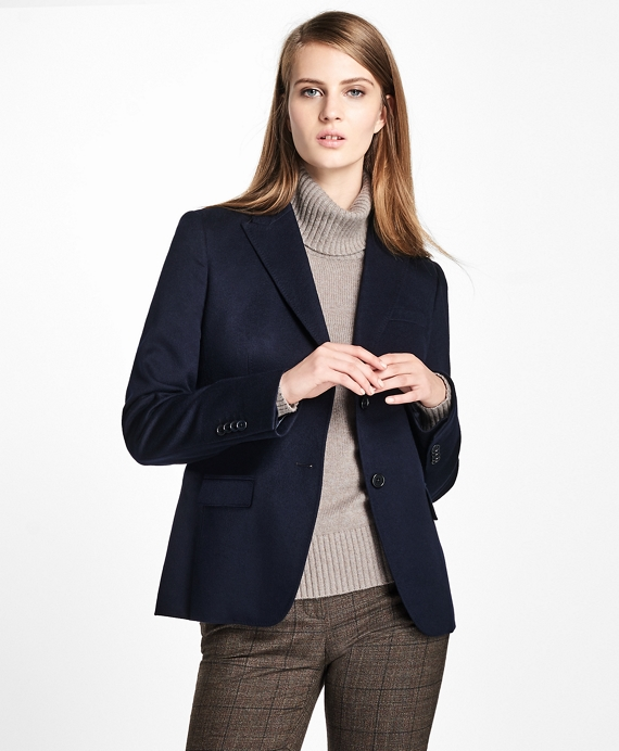 Loro Piana® Two-Button Cashmere Blazer Navy