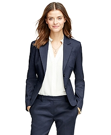 Stellita Fit Two-Button Linen Blend Jacket