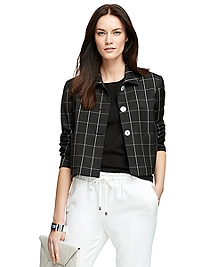 Three-Button Windowpane Jacket