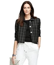 Three-Button Windowpane Jacket