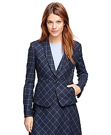 Stellita Fit Wool Windowpane Jacket