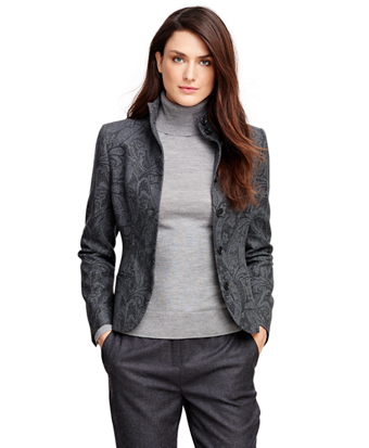 Wool Paisley Jacket
