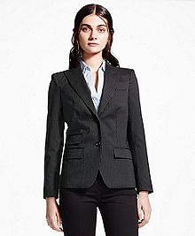 Two-Button Pinstripe Wool Blazer