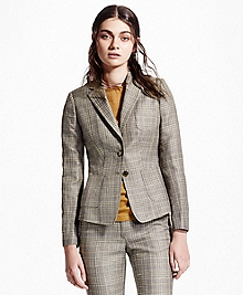Two-Button Glen Plaid Blazer