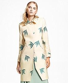 Jacquard Floral Motif Jacket