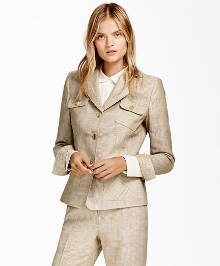 Plaid Wool-Linen Jacket