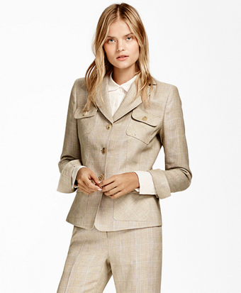 Plaid Wool-Linen Jacket