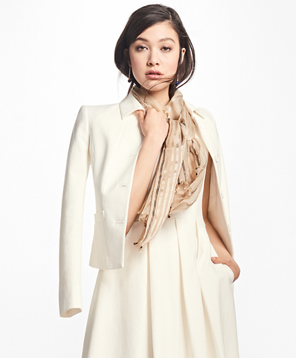 Four-Button Stretch-Cotton Jacket
