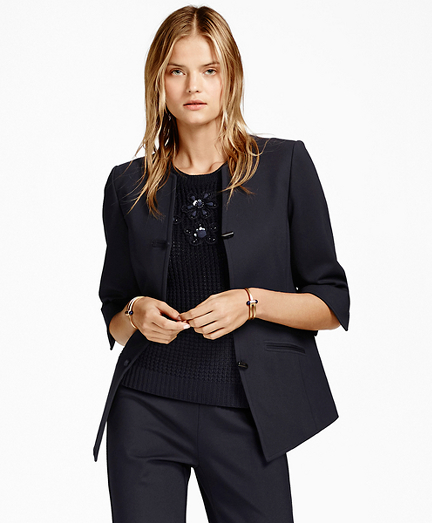 Three-Quarter-Sleeve Toggle Jacket
