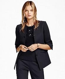 Three-Quarter-Sleeve Toggle Jacket