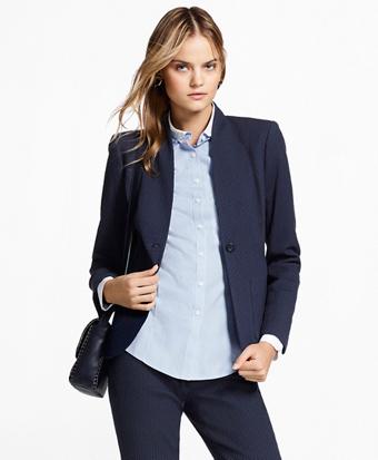 Stretch Cotton Jacquard Jacket