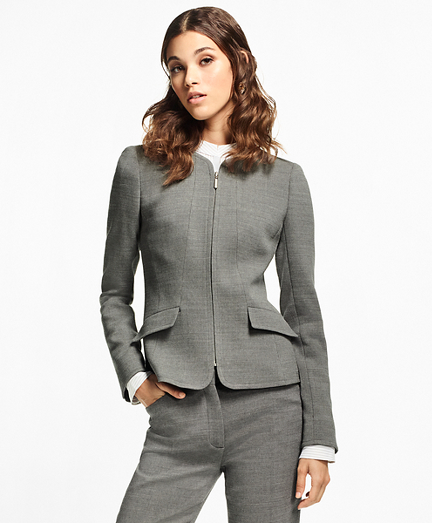 Double-Weave Stretch-Wool Jacket