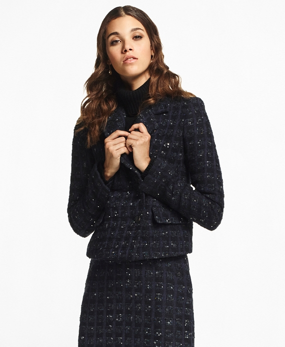 Checked Boucle Tweed Jacket