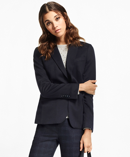 Two-Button Cashmere Blazer