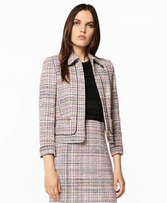 Tweed Zip-Front Jacket Multi