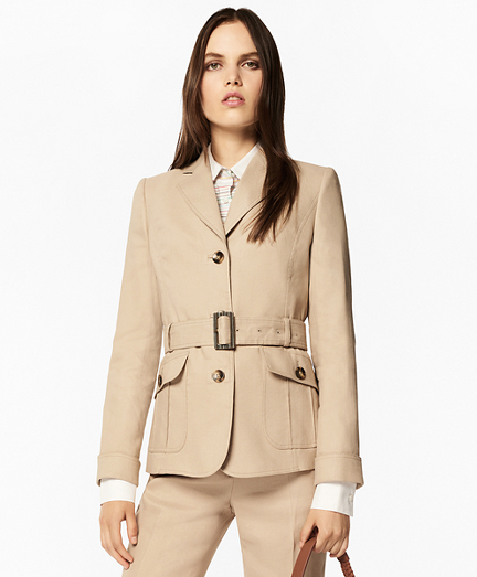 Linen-Blend Safari Jacket