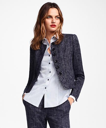 Plaid Tweed Cropped Jacket