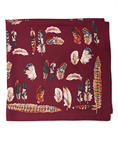Feather Silk Scarf