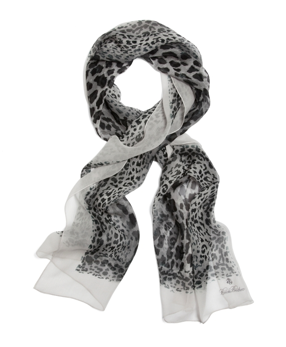 Silk Leopard Oblong Grey