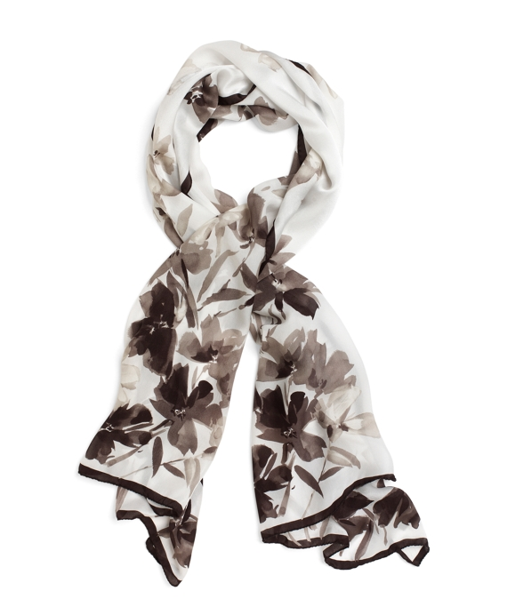 Silk Flower Oblong Grey