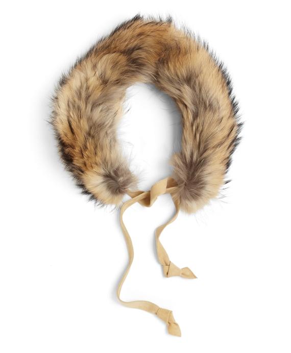 Raccoon Fur Collar Natural