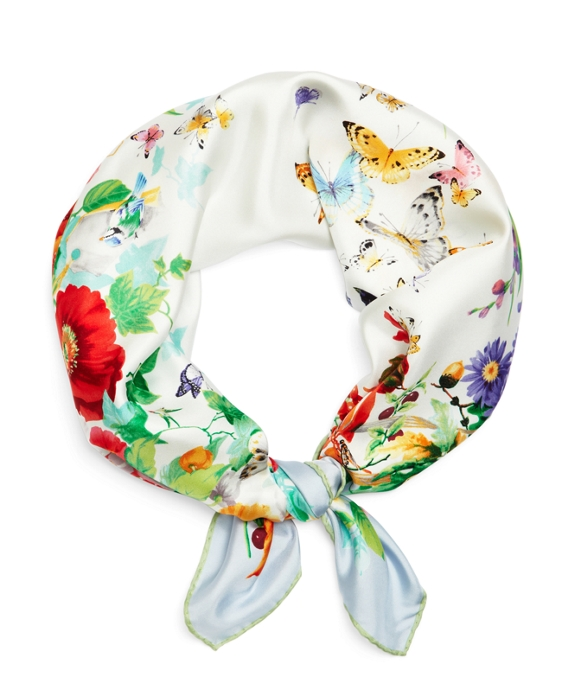Silk Garden Scarf Light Blue