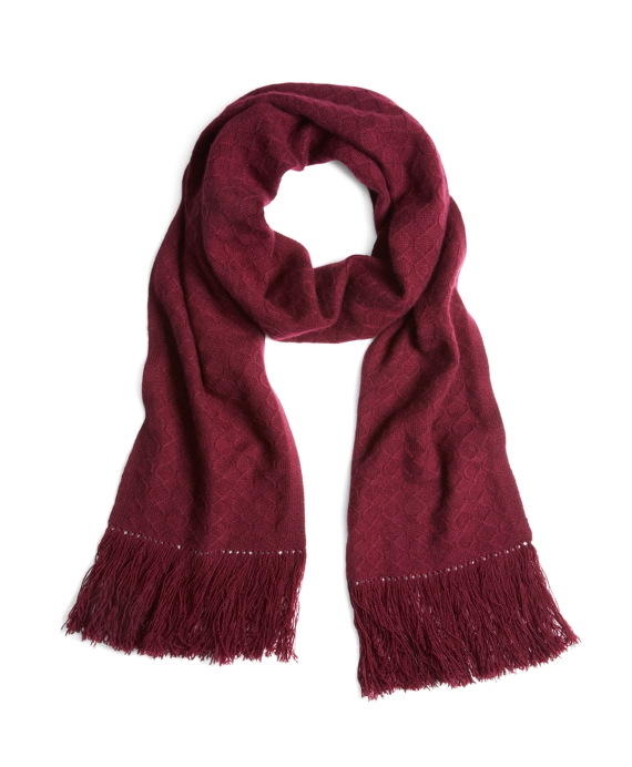 Cashmere Cable Knit Scarf Wine