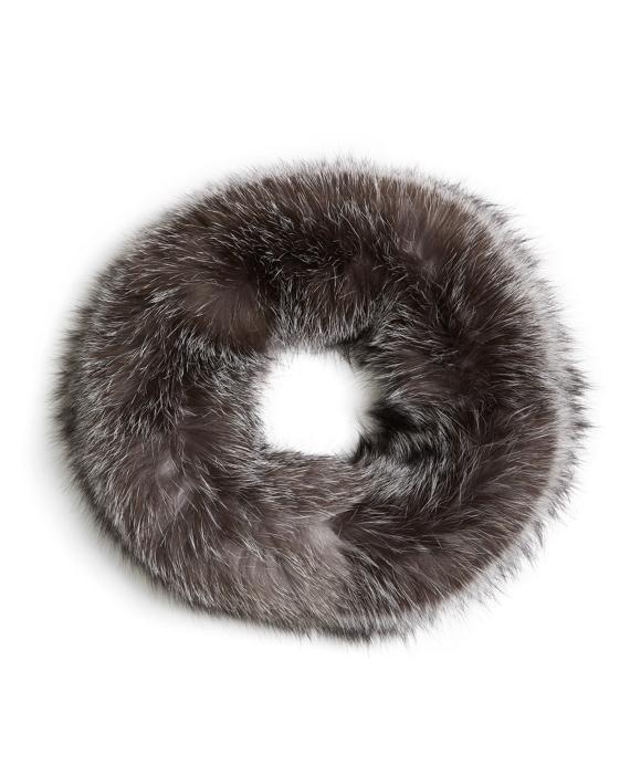 Fox Fur Infinity Loop Grey