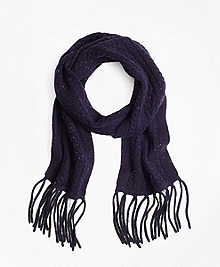 Saxxon Wool Cable Knit Scarf