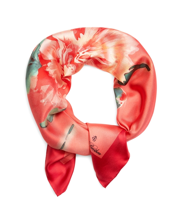 Carnation Silk Square Red