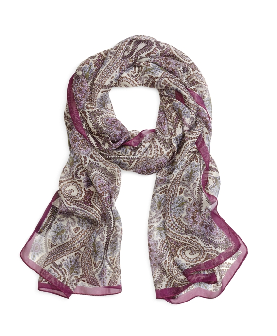 Floral Paisley Oblong Purple