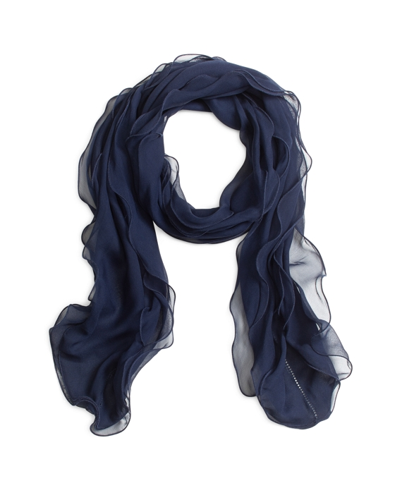 Silk Chiffon Oblong Navy
