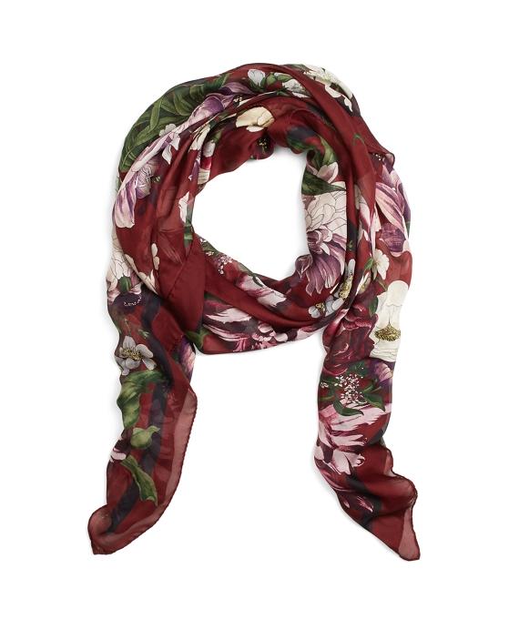 Silk Chiffon Oversized Floral Oblong