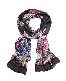 Silk Oversized Floral Oblong