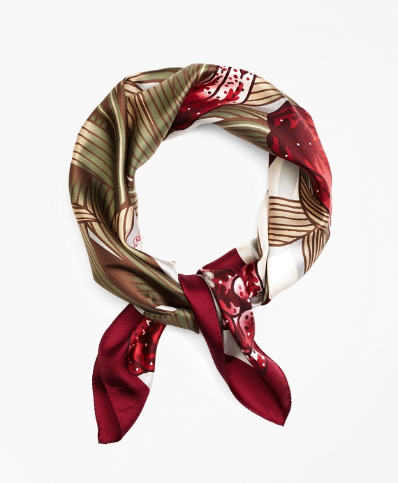 Silk Tulip Scarf Red