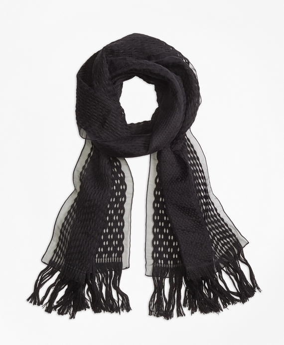 Burnout Scarf Black