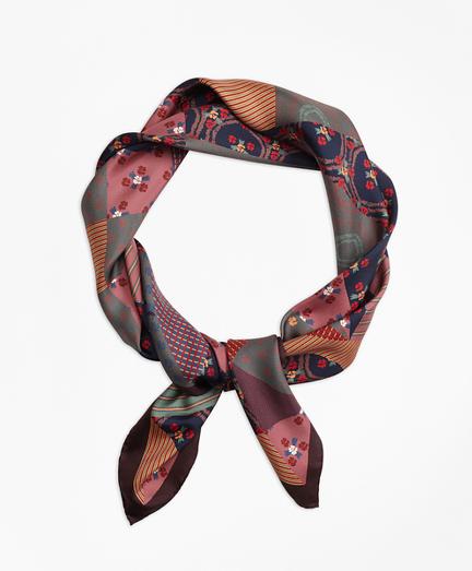 Silk-Twill Foulard Square Scarf