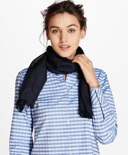 Sheer-Stripe Silk Oblong Scarf