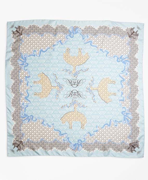 Limited Edition 200th Anniversary Silk Square Scarf Blue