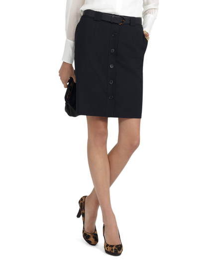 Buy Wool Button-Front Skirt, see details about this diamond and more