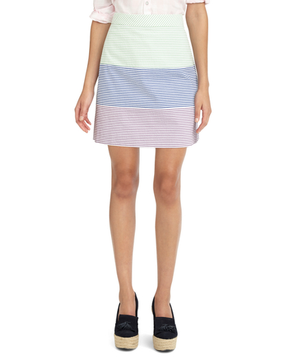 Buy Three-Stripe Seersucker Skirt, see details about this diamond and more