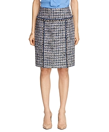 Boucle Chiffon Pencil Skirt