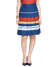 Cotton and Silk Pleated Skirt