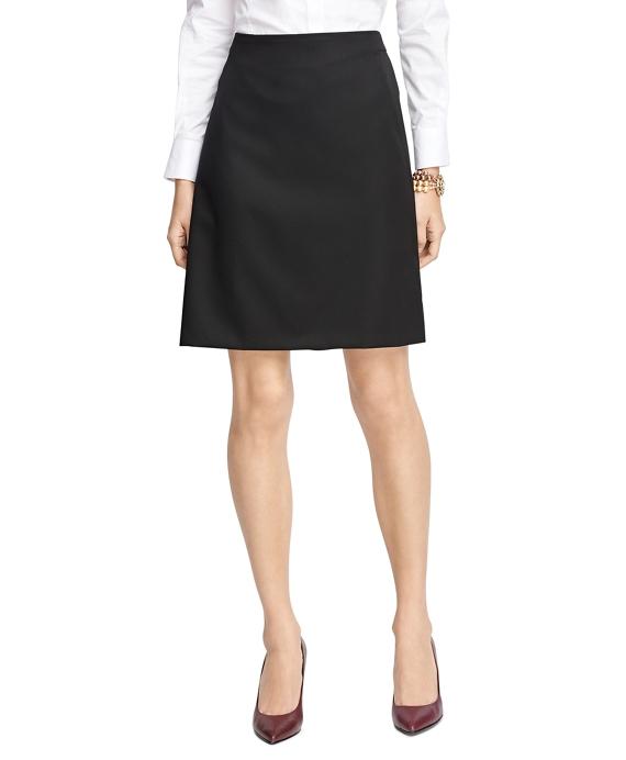 Women's Black Wool A-Line Skirt | Brooks Brothers