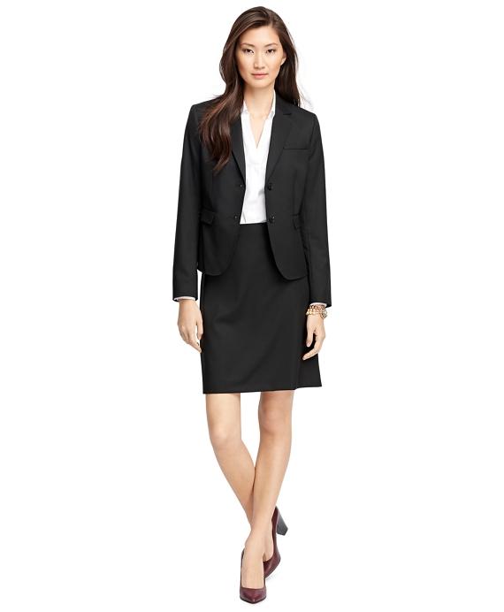 Women's Black Wool A-Line Skirt   Brooks Brothers