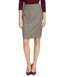 Wool Prince of Wales Skirt