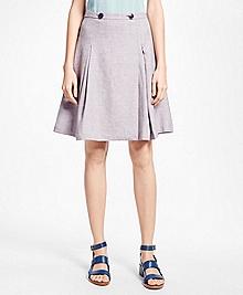 Linen-Blend A-Line Skirt
